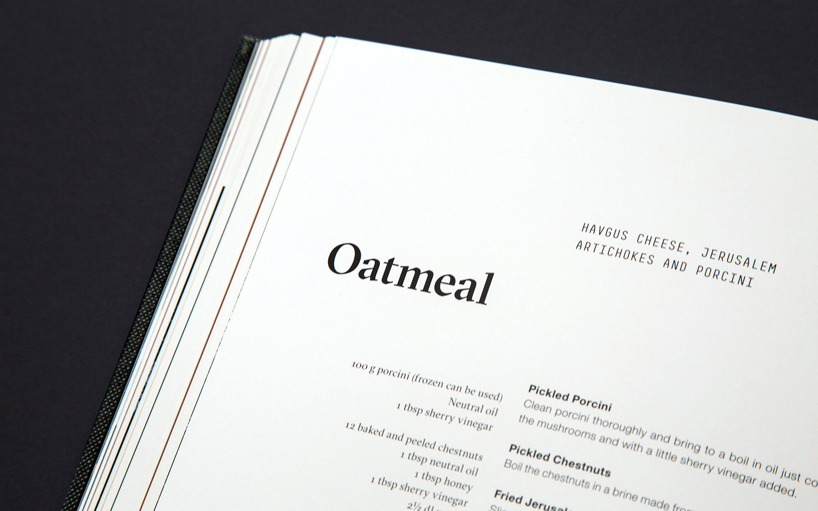 Close-up of the recipe Oatmeal in the Kokkeriet cookbook