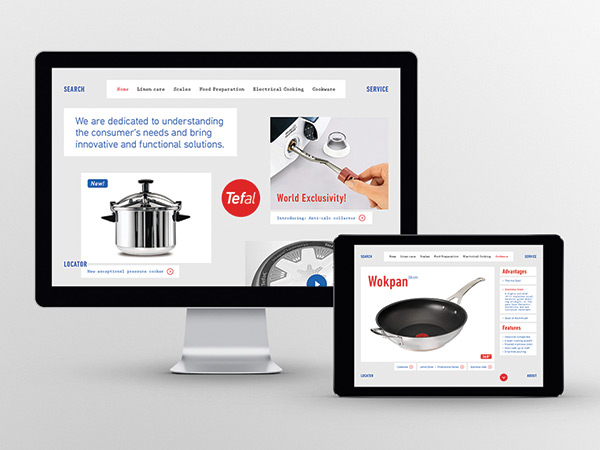 Tefal - a visual identity based on the core values: function and innovation